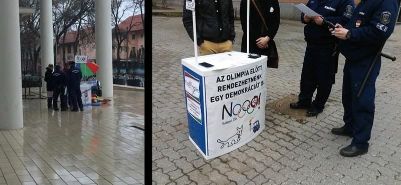 Rendőrt hívtak a Kétfarkú Kutyapárt aláírásgyűjtőire Szegeden
