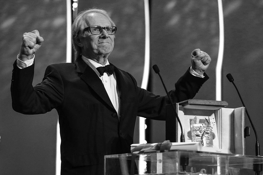 afp.16.05.21. -Brit rendező Ken Loach - Cannes-i Filmfesztivál feketén-fehéren, Nagyítás