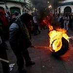 Káosz fordult Ecuador fővárosa a sztrájkolók miatt - fotó