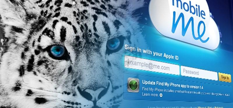 Ingyen adja a Leopárdot az Apple a MobileMe felhasználóknak