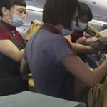 Repülőn szült egy tajvani nő, még nem tudni a baba állampolgárságát - fotó