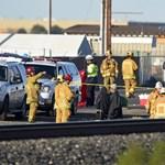 Kisiklott egy vonat Los Angelesben, sokan megsérültek - fotók