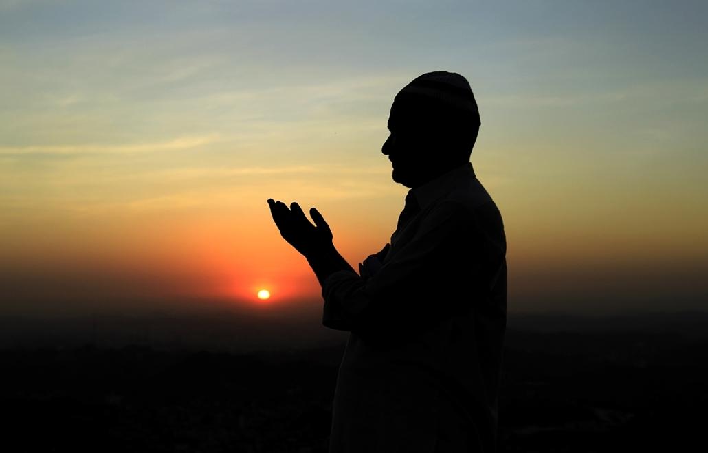 muszlim zarándokok mekkában iszlám vallás nagyítás
