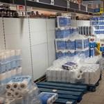 Ismét roham indult a vécépapírért Németországban