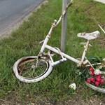 Egy autó törhette össze a kilencéves fiú emlékére kirakott szellembiciklit