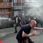 Videó: Így próbálták megfékezni a Lille-ben randalírozó angol szurkolókat