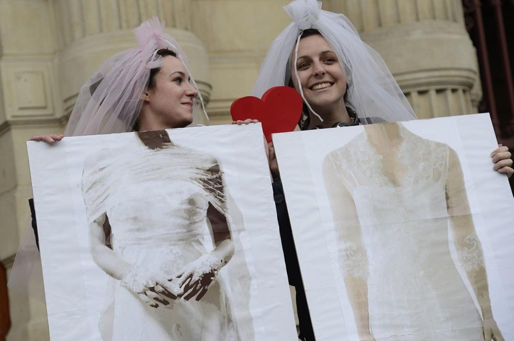 A melegházasság engedélyezése Franciaországban, Párizs, 2013. április 24.