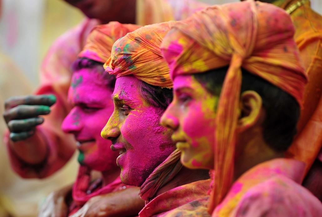Holi fesztivál, a színek fesztiválja Indiában - holi-nagyítás
