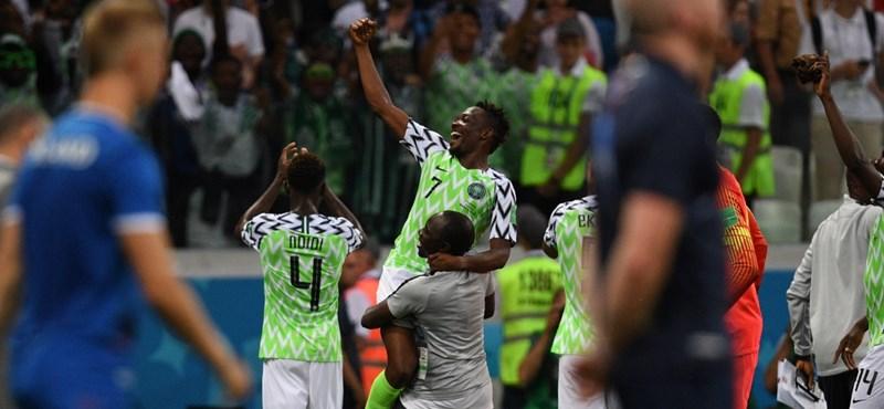 Nigéria átaludt egy félidőt, majd nagyot játszva legyőzte Izlandot