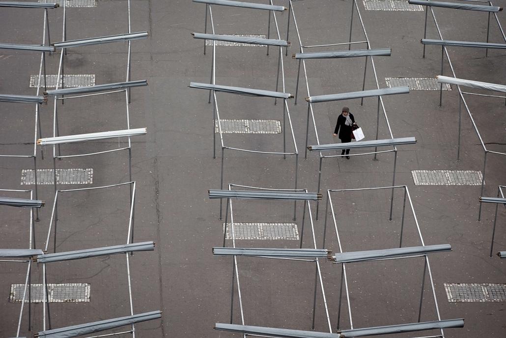 hét képei - Párizs, Franciaország 2014.02.17. üres piac