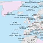 Megmagyarázhatatlanul vicces térkép: így reklámozzák magukat a Föld országai