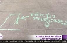 A köztévé szerint a tüntetők akasztva látnák Tőkés Lászlót