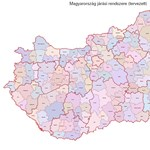 Térkép: így osztanák fel új járásokra Magyarországot