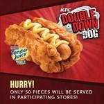 Új hotdog a KFC-től: rántott húsba tekertek egy virslit - fotók