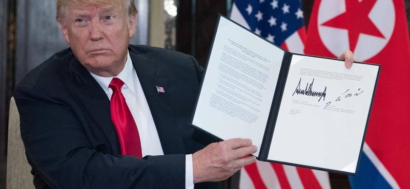 Atommentesítés és tartós béke: történelmi megállapodást kötött Trump és Kim