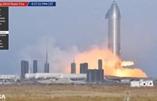 Videó: Sikerült a SpaceX tesztje, begyújtották a Starship űrhajó hajtóműveit