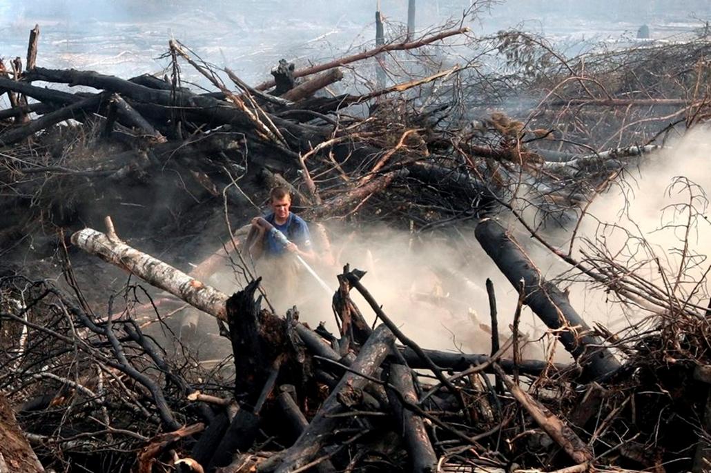 Oroszország Erdőtűz