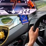 Jól szalad a frissített Lamborghini Huracan – 344 km/h az autópályán
