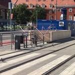 Új foglalkozást találtak ki a vizes vb-re a Batthyány téri villamospályánál