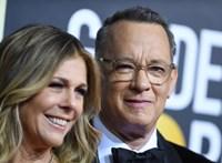 A gyógyult Tom Hanks már Los Angelesből jelentkezett