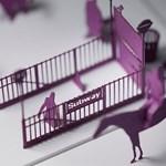 Bámulatos installáció: Terada Mokei papírból épített fel egy New York-i metróállomást