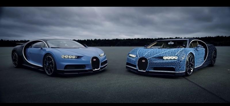 1 millió darabból készült minden férfi álma: megcsinálták a működő Lego Bugatti Chiront – videó