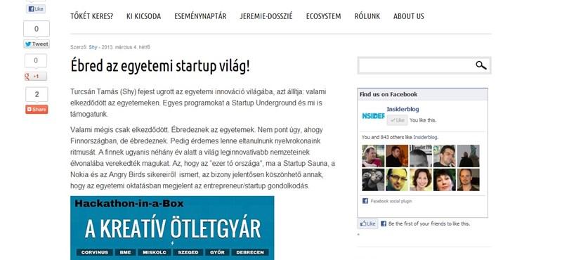 Startup: Beindultak az egyetemek is