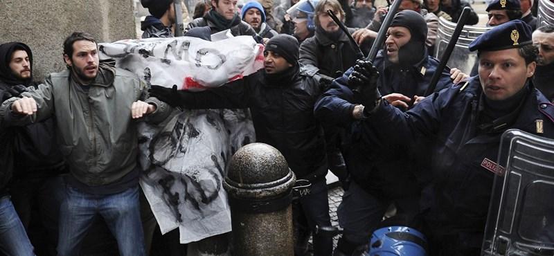 Mindenre felkészültek a rendőrök: tüntetnek a diákok Rómában
