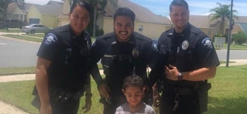 Segélyhívón rendelt pizzát egy kisfiú – nagyon jó fej rendőrökre talált