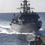 Kis híján nekiment egy orosz hadihajó egy amerikai rombolónak az Arab-tengeren