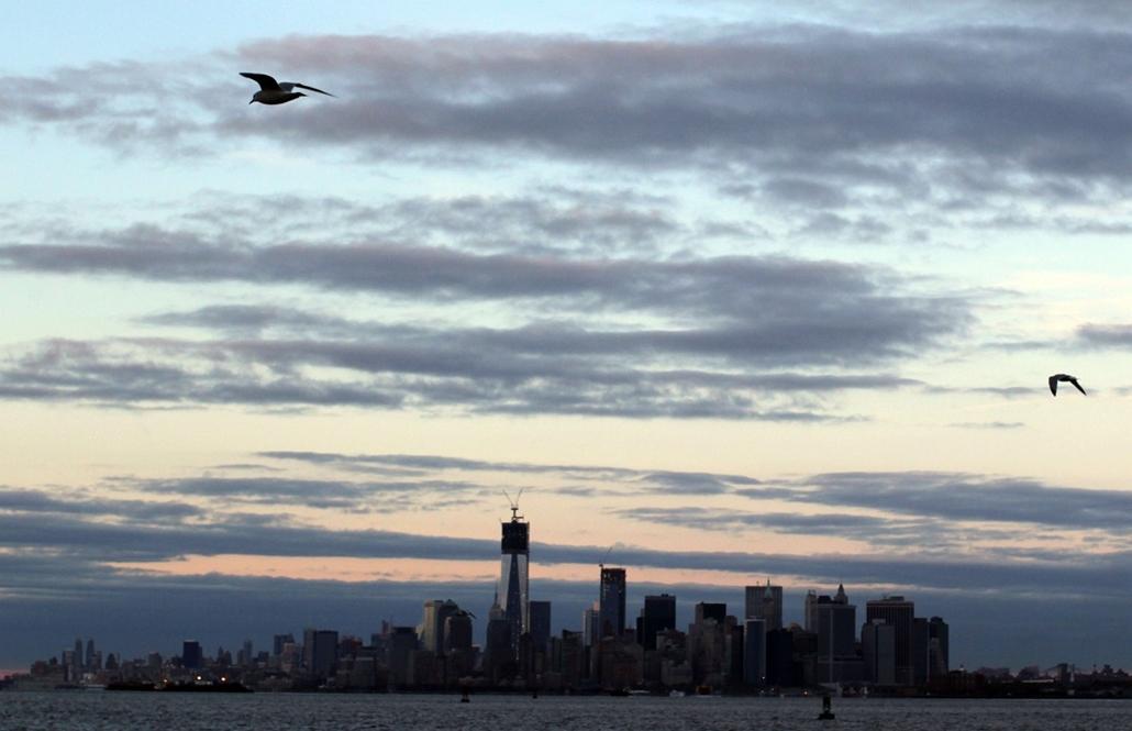 afp. Manhattani látkép a Sandy hurrikán után - hét képei nagyítás