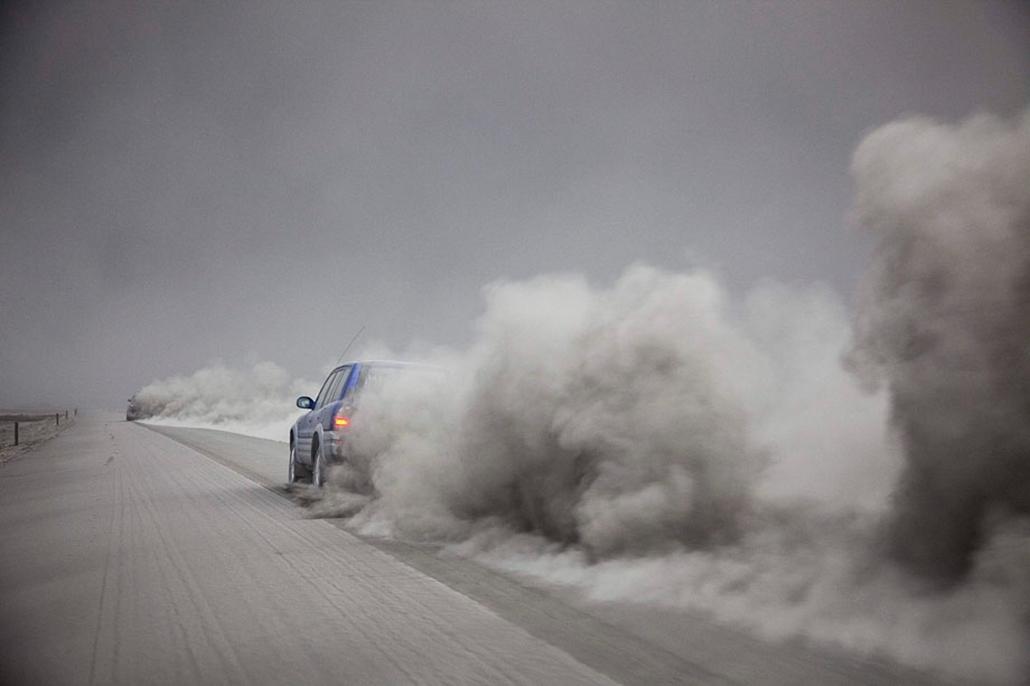 Vulkán tűzhányó Izland