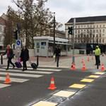 Mégis visszafestik a megszüntetett kerékpárutat az Arany János utcánál