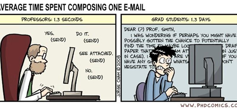 A nap képe: ilyen, amikor egy egyetemi professzor e-mailt ír