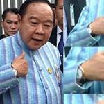 A thai hatóságok szerint hihető a luxusórákkal lebukott miniszter meséje