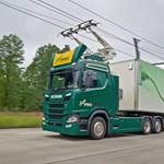Ne lepődjön meg, ha Németországban olyan kamiont lát, aminek áramszedője van