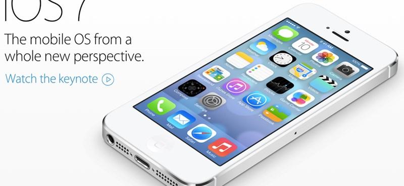 Itt az új iOS 7 beta