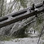 Április tél: hihetetlen, de újra le kellett zárni utakat Borsodban