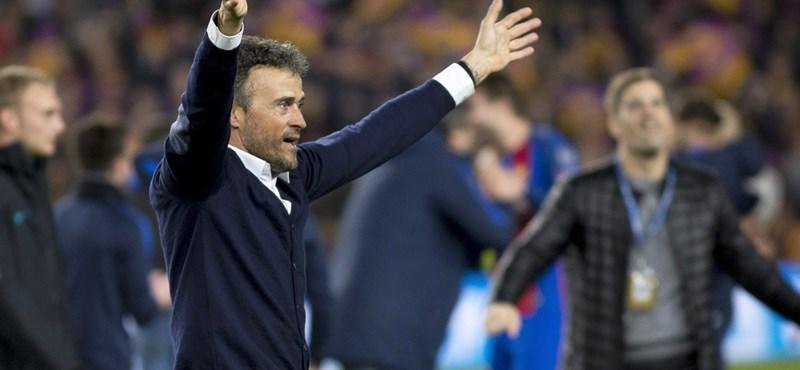 Kis híján lesérült a nagy ünneplésben a Barca-edző – videó