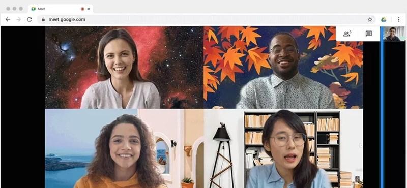 Új funkciót kap a Google Meet, már kezdheti válogatni a képeket hozzá