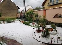 Mintha havazott volna májusban: fél méter jég borított egy magyar községet