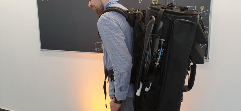 Van olyan hátizsák, mellyel bárhol gyorsan létrehozható egy mobilhálózat