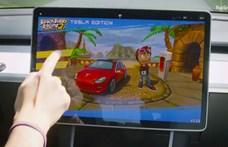 Autós játékok jönnek a Teslákba, a kormánnyal kell majd irányítani őket