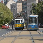 Nosztalgiavillamosok vonulnak fel Budapesten