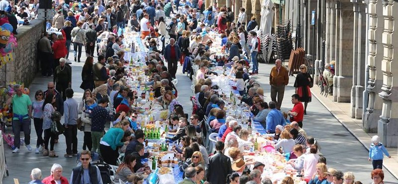 A legnagyobb utcai együtt evés