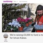 Egy magyar hajléktalan emléktáblájára gyűjtenek egy angol városkában
