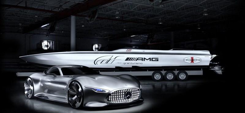 A Mercedesnél a motorcsónak is 225-tel megy