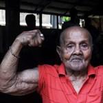 100 éves az indiai Zsebherkules, a világ legapróbb testépítő világbajnoka