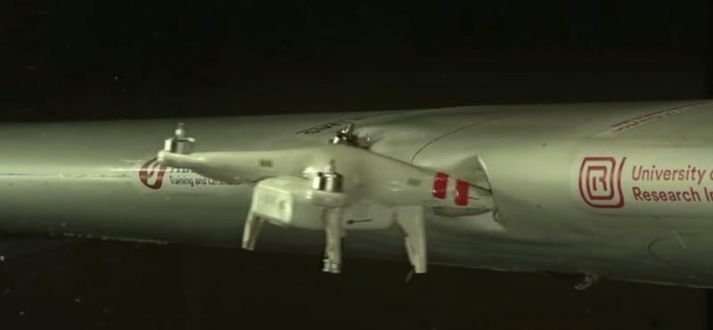 Videó: ez történik, ha 383 km/h-nál drón csapódik a repülőgép szárnyának