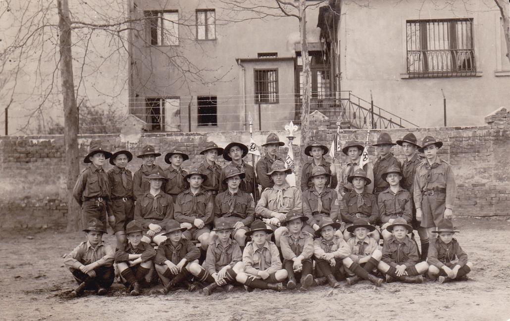 1929. - a 13. cserkészcsapat I. rajának tagjai Perecesen - cserkészet, cserkész, cserknagy